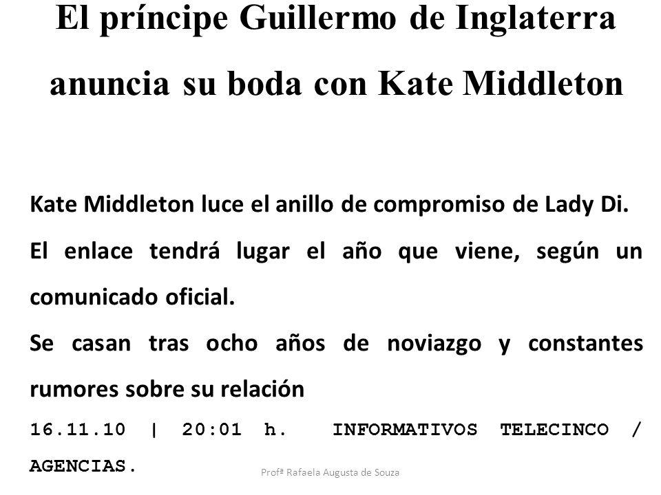 El príncipe Guillermo de Inglaterra anuncia su boda con Kate Middleton