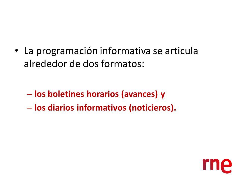 La programación informativa se articula alrededor de dos formatos: