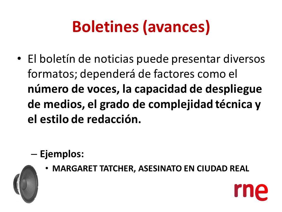 Boletines (avances)