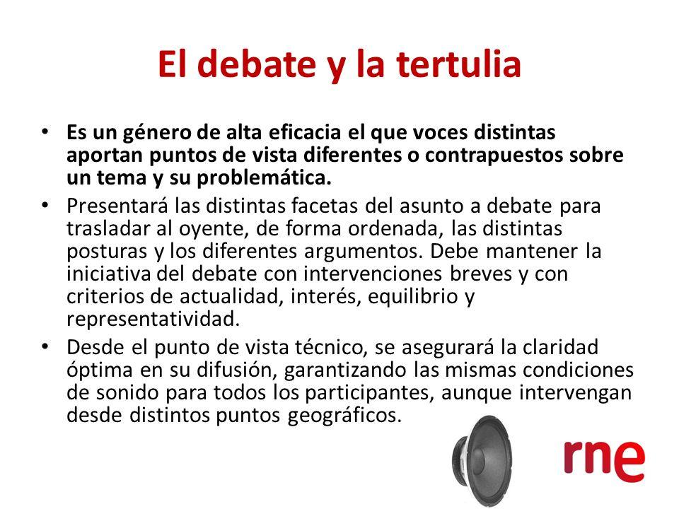 El debate y la tertulia