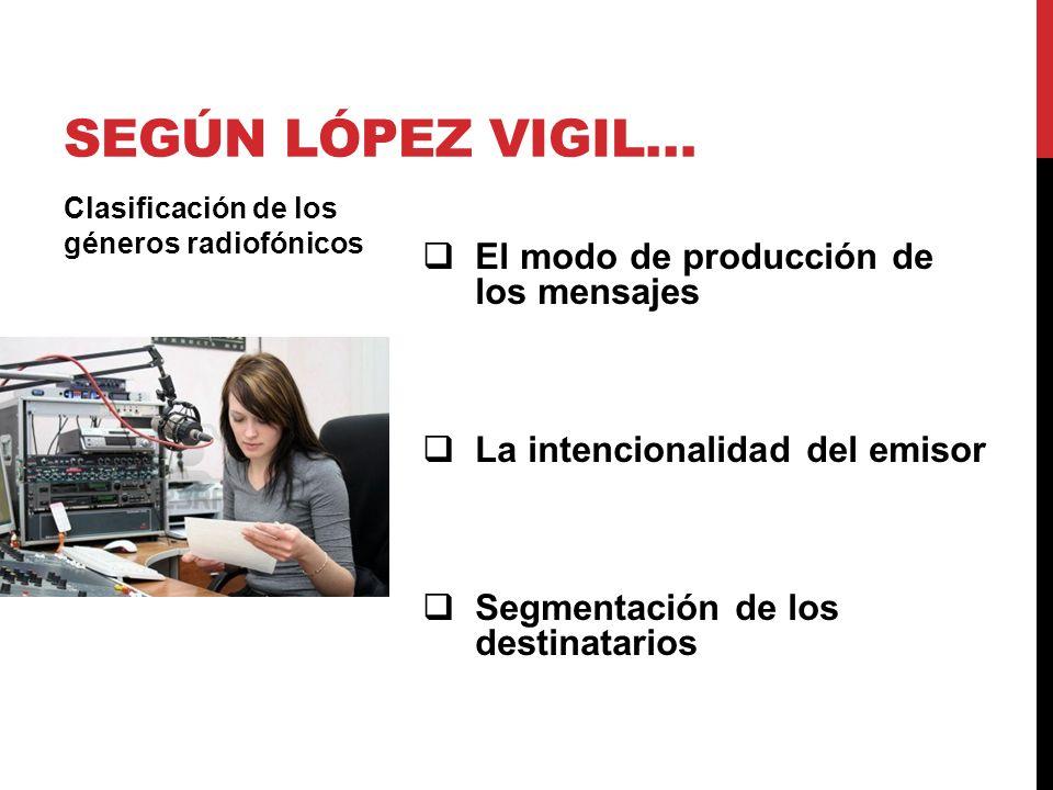 Según López Vigil… El modo de producción de los mensajes