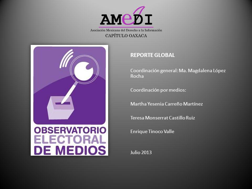 REPORTE GLOBAL Coordinación general: Ma. Magdalena López Rocha