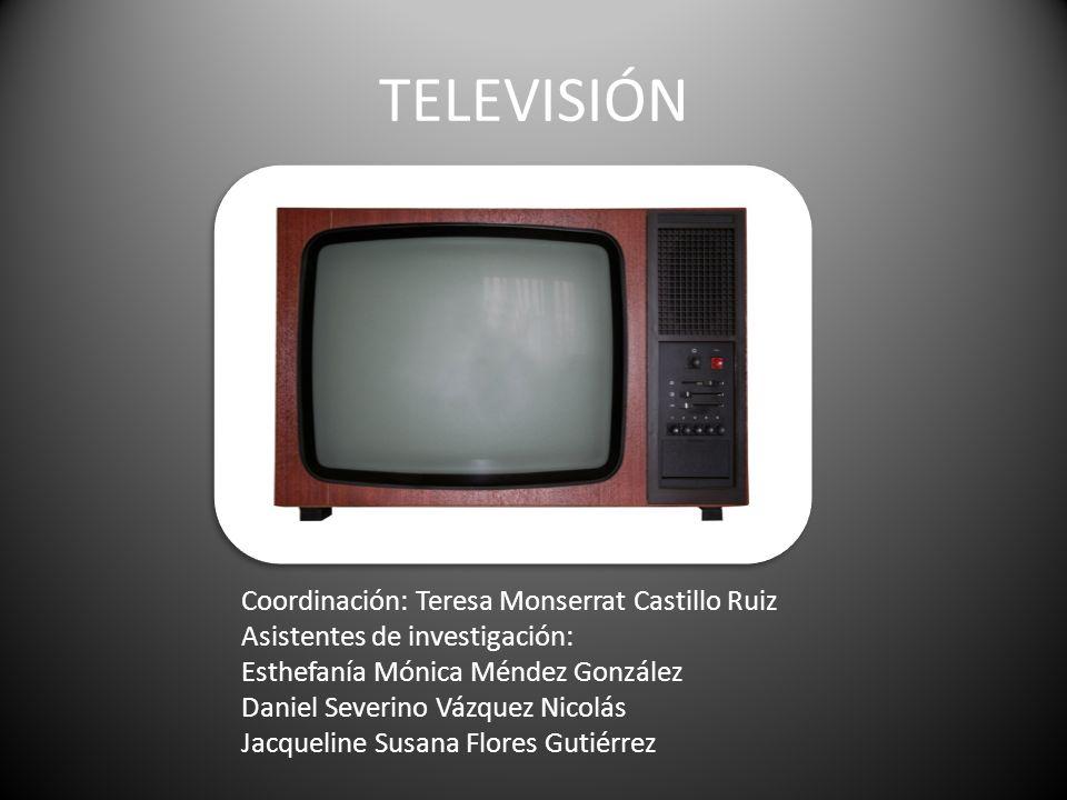 TELEVISIÓN Coordinación: Teresa Monserrat Castillo Ruiz