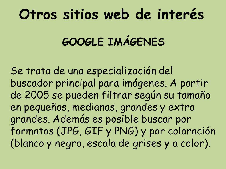 Otros sitios web de interés