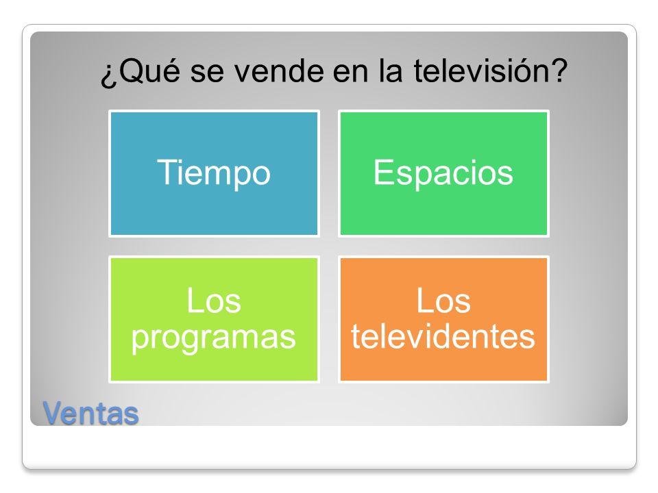 ¿Qué se vende en la televisión