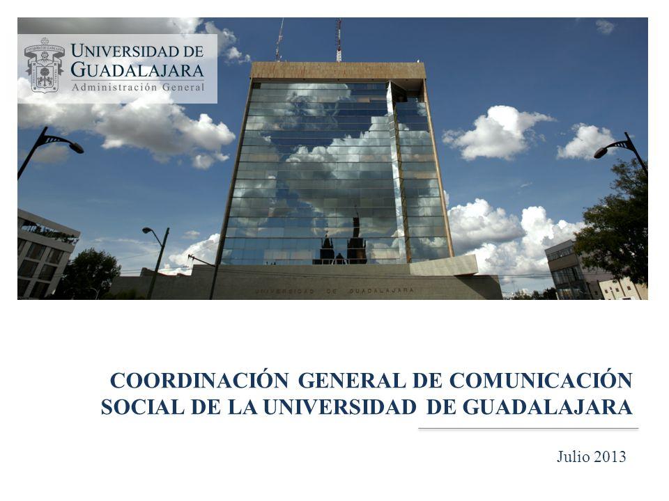 COORDINACIÓN GENERAL DE COMUNICACIÓN SOCIAL DE LA UNIVERSIDAD DE GUADALAJARA