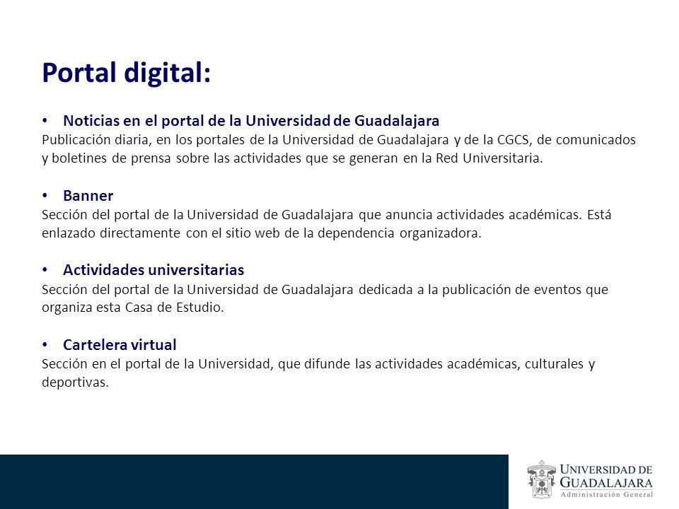 Portal digital: Noticias en el portal de la Universidad de Guadalajara