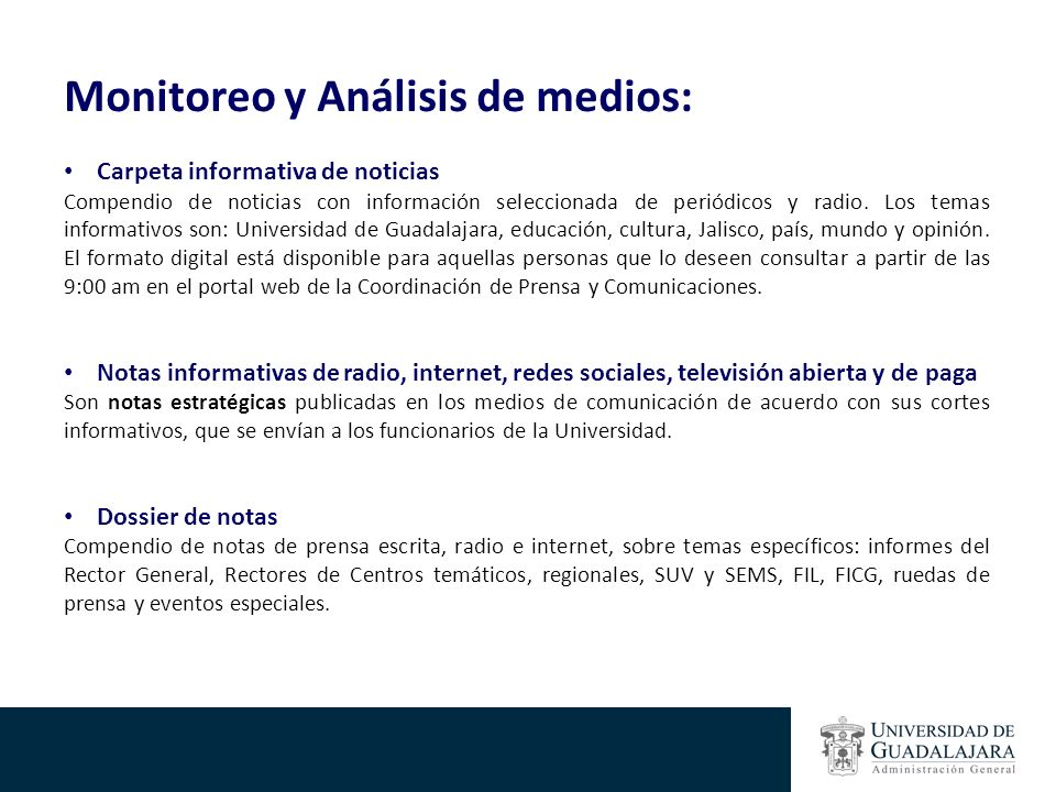 Monitoreo y Análisis de medios:
