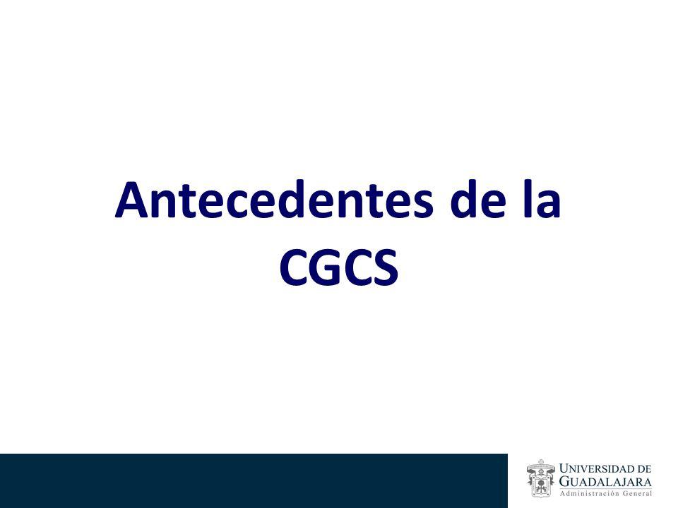 Antecedentes de la CGCS