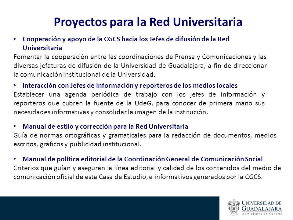 Proyectos para la Red Universitaria