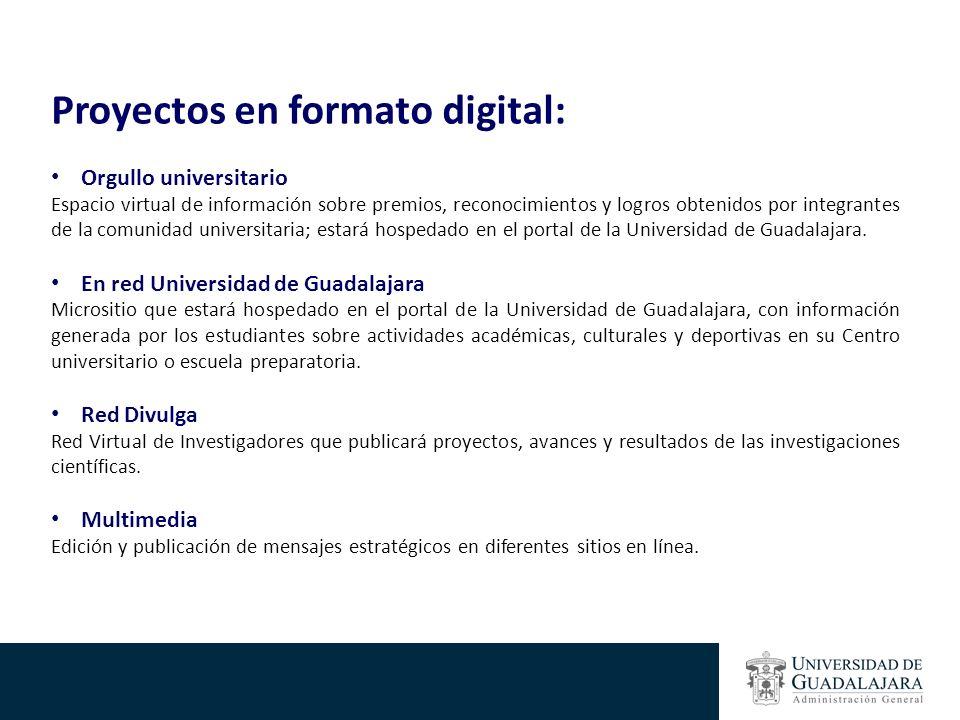 Proyectos en formato digital: