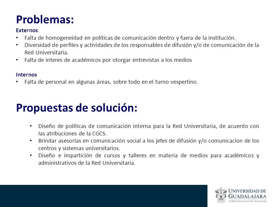 Propuestas de solución: