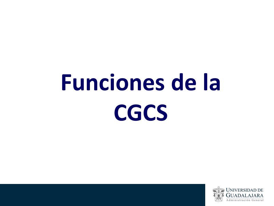 Funciones de la CGCS