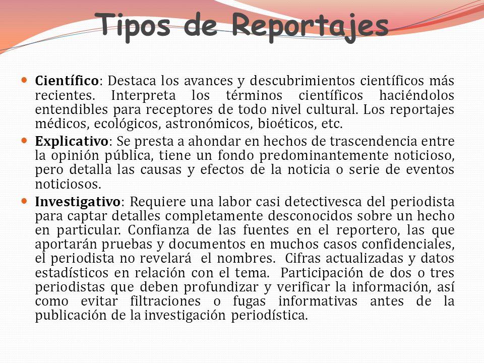 Tipos de Reportajes