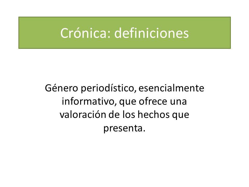 Crónica: definiciones