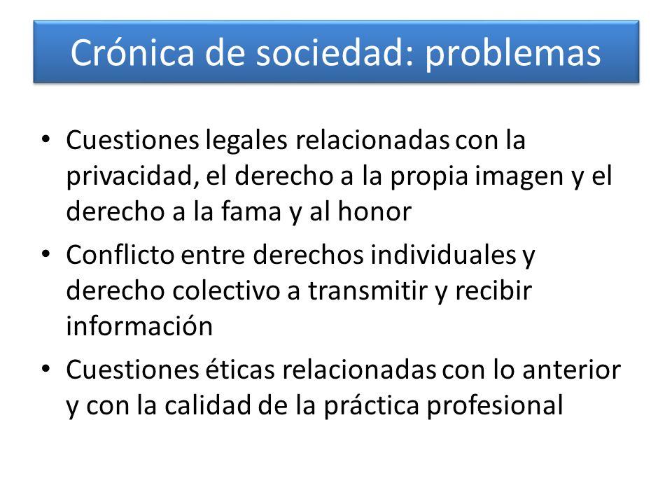 Crónica de sociedad: problemas