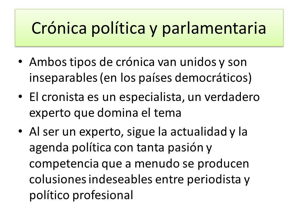 Crónica política y parlamentaria