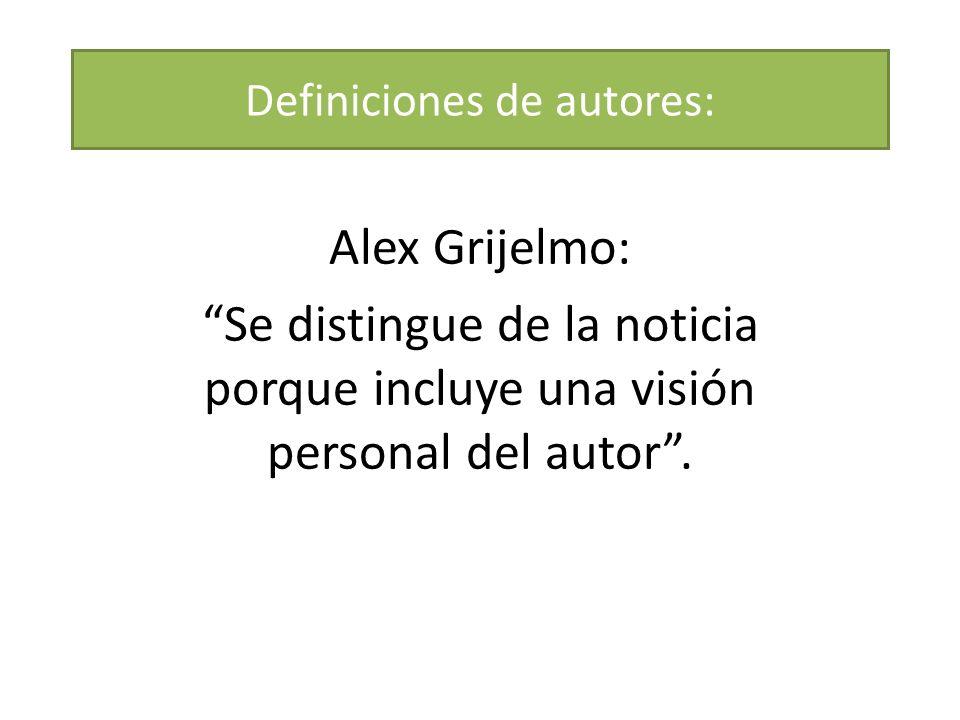 Definiciones de autores:
