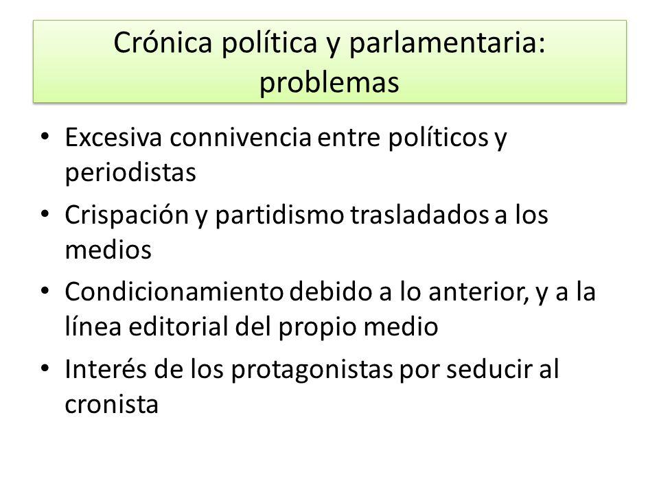 Crónica política y parlamentaria: problemas