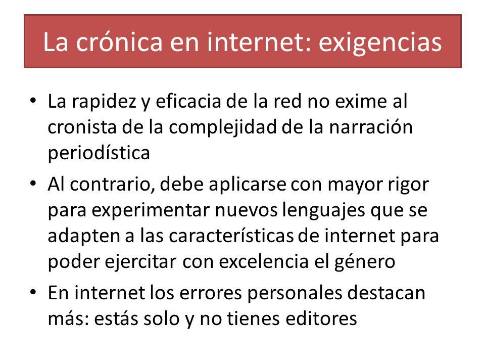 La crónica en internet: exigencias