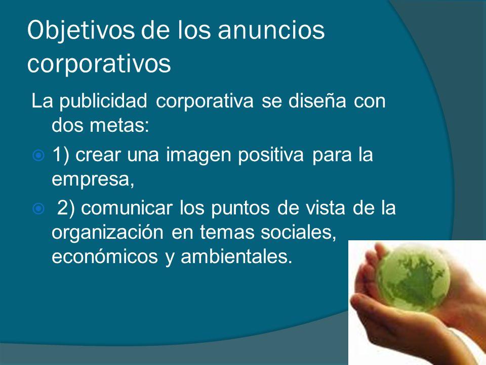 Objetivos de los anuncios corporativos
