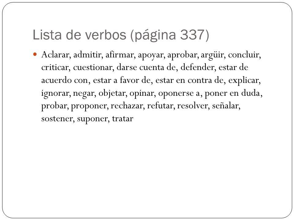 Lista de verbos (página 337)