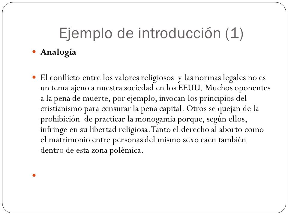 Ejemplo de introducción (1)