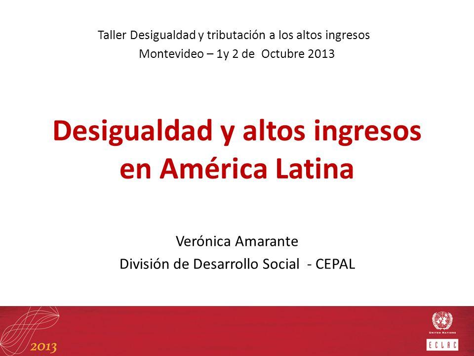 Desigualdad y altos ingresos en América Latina