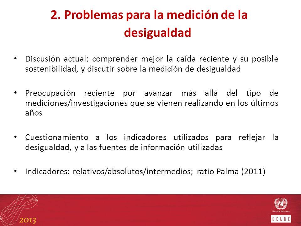 2. Problemas para la medición de la desigualdad
