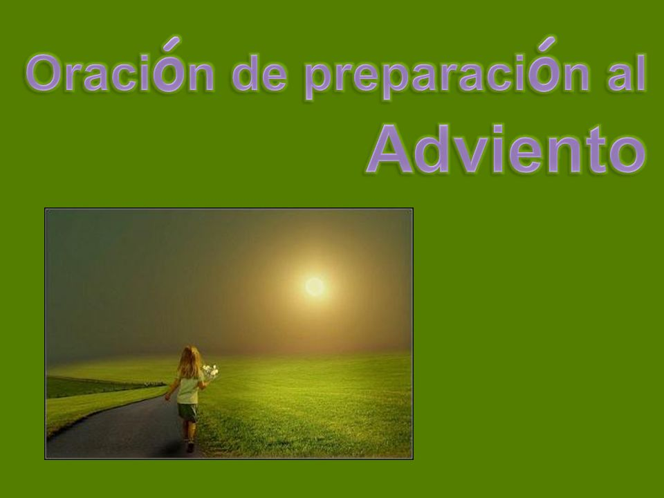 Oración de preparación al Adviento