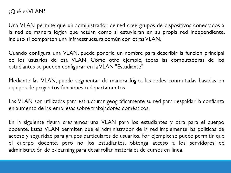 ¿Qué es VLAN