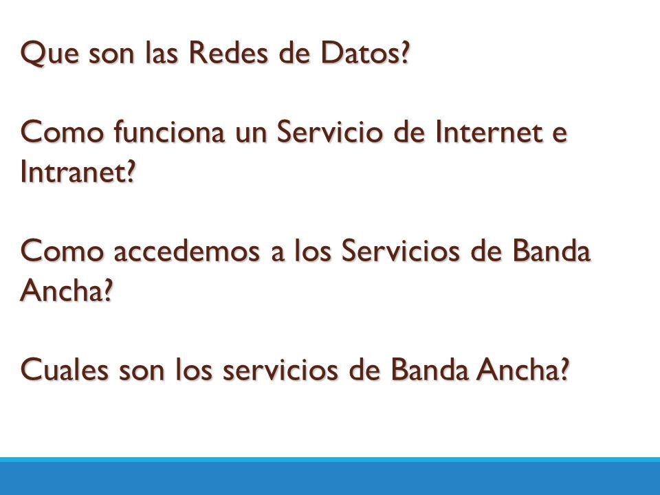 Que son las Redes de Datos