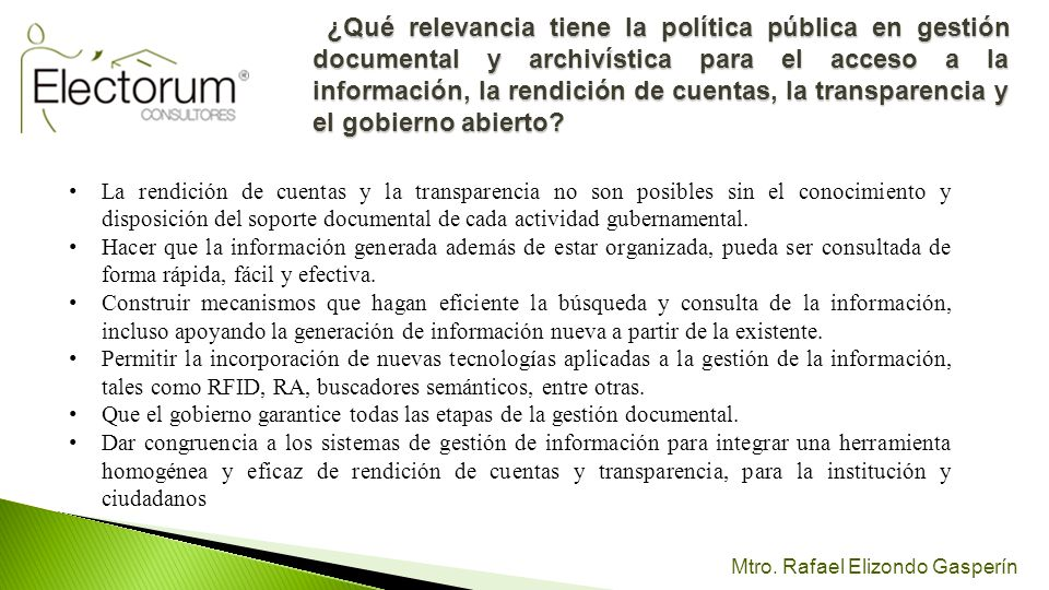 ¿Qué relevancia tiene la política pública en gestión documental y archivística para el acceso a la información, la rendición de cuentas, la transparencia y el gobierno abierto