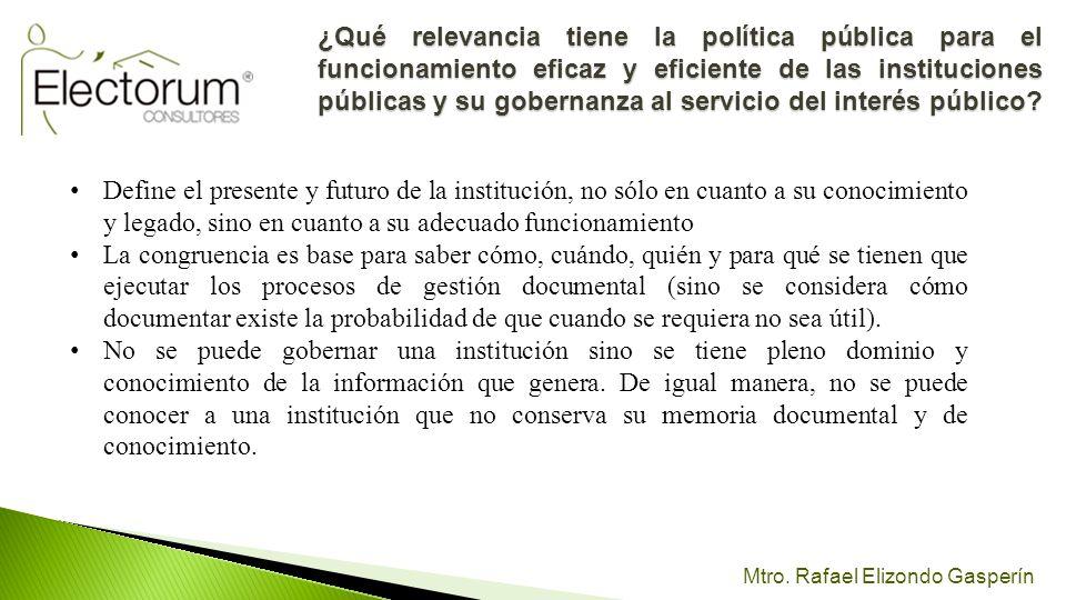 ¿Qué relevancia tiene la política pública para el funcionamiento eficaz y eficiente de las instituciones públicas y su gobernanza al servicio del interés público