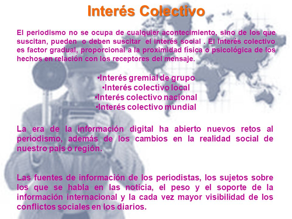 Interés Colectivo Interés gremial de grupo Interés colectivo local