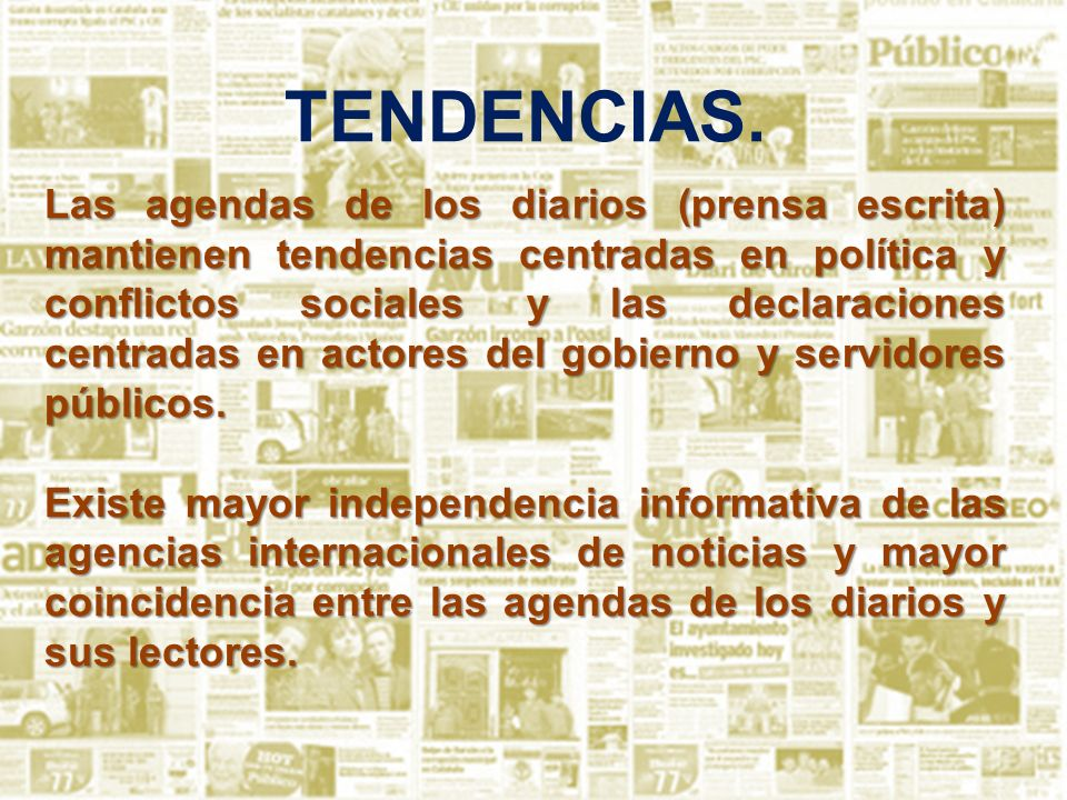 TENDENCIAS.