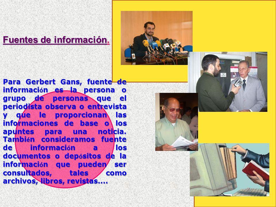 Fuentes de información.