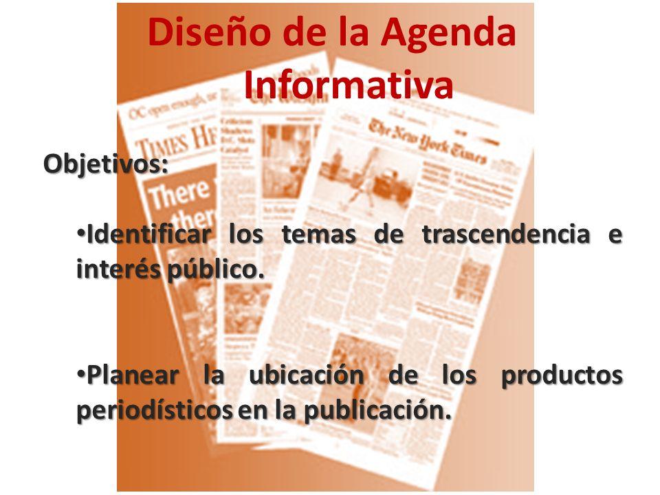 Diseño de la Agenda Informativa