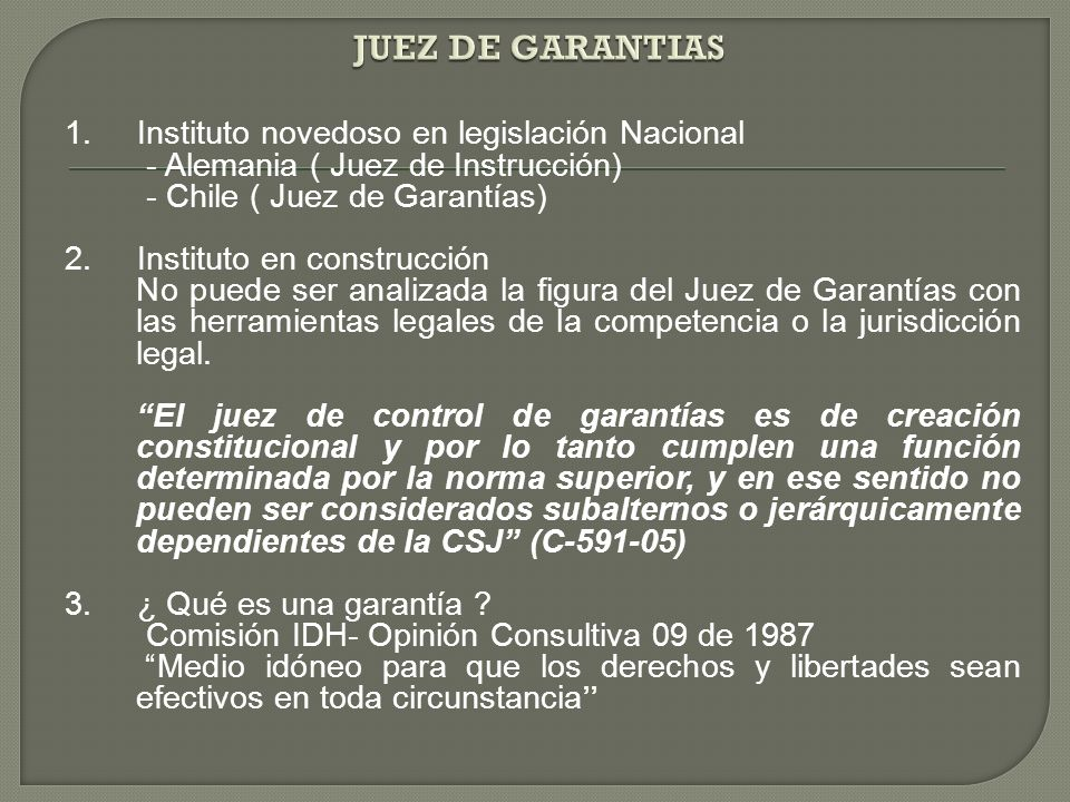 JUEZ DE GARANTIAS