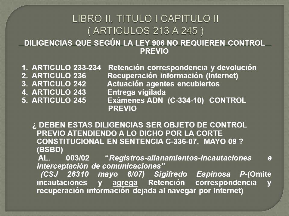 LIBRO II, TITULO I CAPITULO II ( ARTICULOS 213 A 245 )