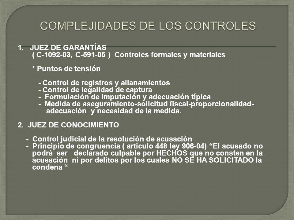 COMPLEJIDADES DE LOS CONTROLES