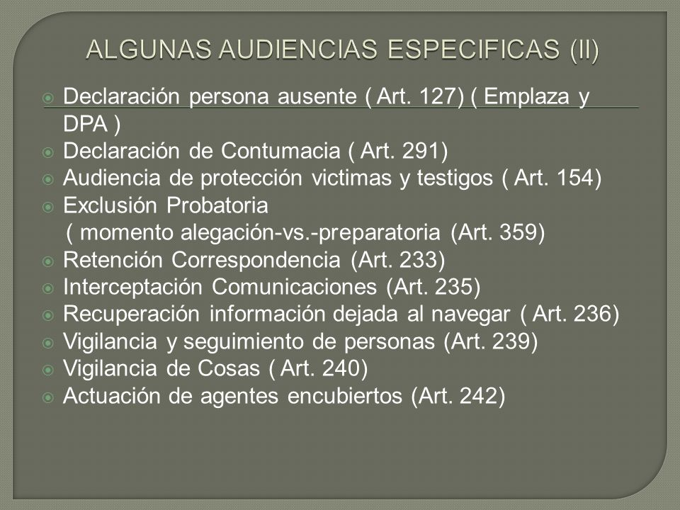 ALGUNAS AUDIENCIAS ESPECIFICAS (II)