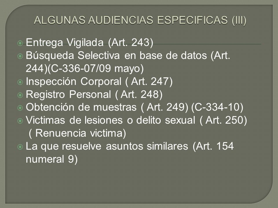 ALGUNAS AUDIENCIAS ESPECIFICAS (III)