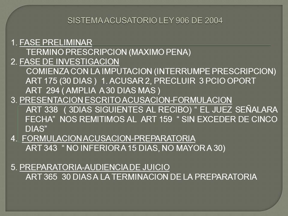 SISTEMA ACUSATORIO LEY 906 DE 2004