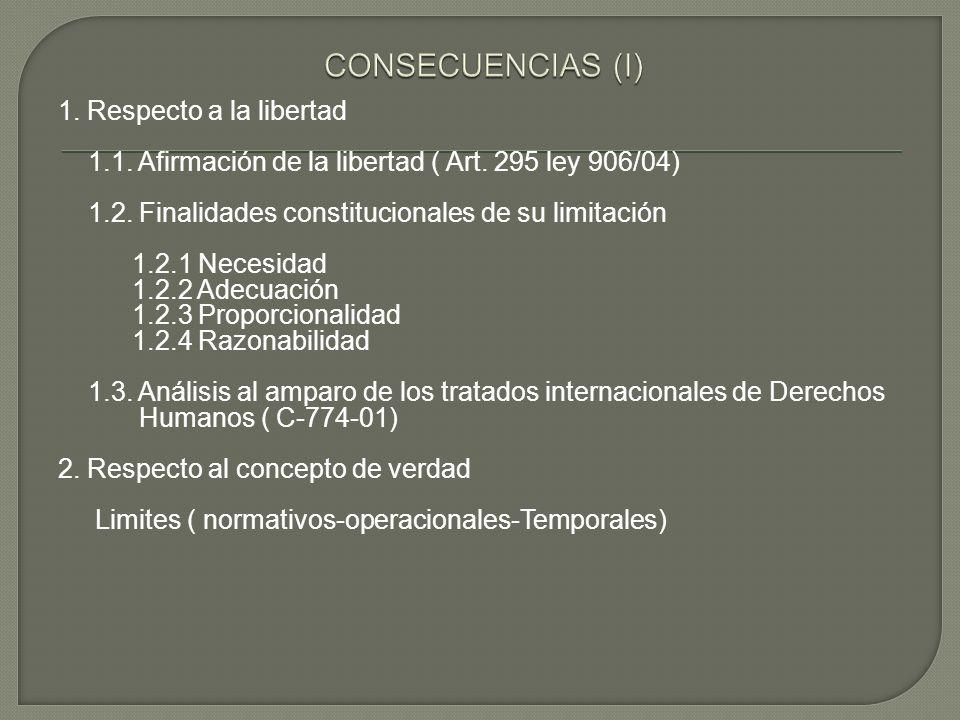 CONSECUENCIAS (I)