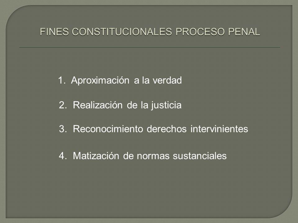 FINES CONSTITUCIONALES PROCESO PENAL