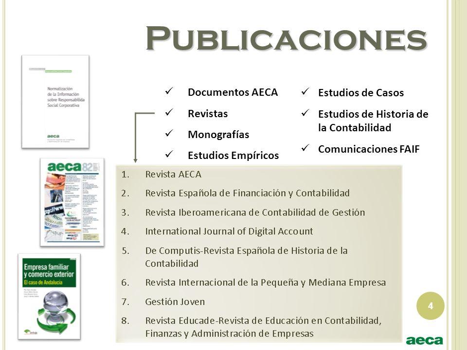 Publicaciones Documentos AECA Revistas Monografías Estudios Empíricos