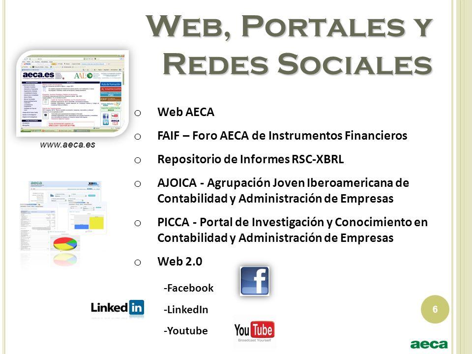 Web, Portales y Redes Sociales
