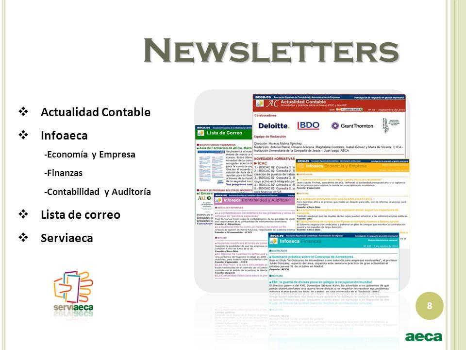 Newsletters Actualidad Contable Infoaeca Lista de correo Serviaeca