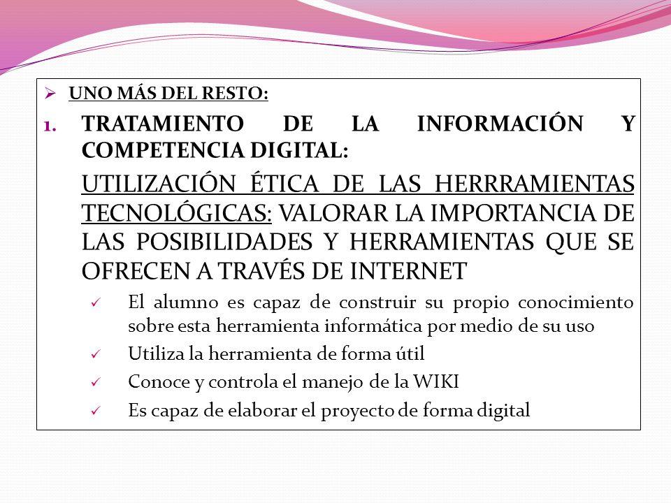 TRATAMIENTO DE LA INFORMACIÓN Y COMPETENCIA DIGITAL:
